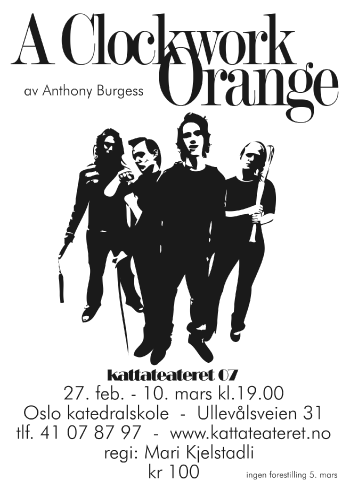 A Clockwork Orange Theatre Poster in Oslo