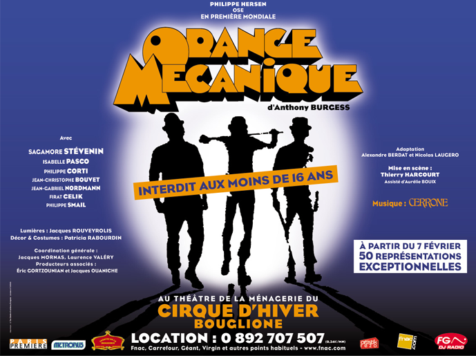 A Clockwork Orange Theatre Poster Paris
